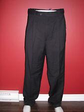 CLAIBORNE Men's Black Solid Double Pleated Pant - Size 36W x 36L - NWT $60