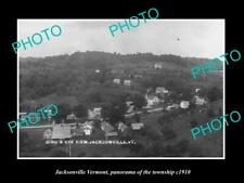OLD POSTCARD SIZE PHOTO OF JACKSONVILLE VERMONT PANORAMA OR THE TOWNSHIP c1910