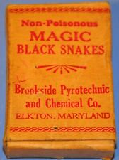 Rare Early Brookside Fireworks (First Version) Magic Black Snakes Box Elkton Md