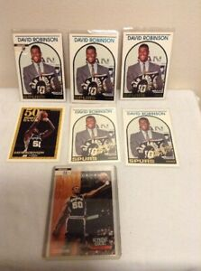 5-1994 NBA Hoops David Robinson DR1 Celebrating 5 years Spurs & Topps Gold
