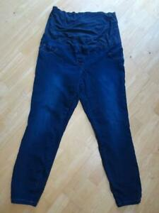 NEXT MATERNITY ladies dark blue denim slim leg jeans UK 18 REGULAR excellent