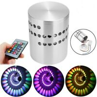 3W RGB LED Wall Lights Remote Control Spiral Ceiling Lamp For Hallway Porche Ktv