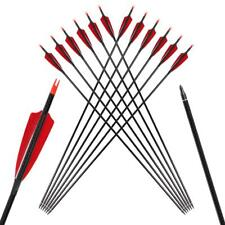 Archery Carbon Arrow True Feather for Recurve Bow Hunting Field Point,Spin 300