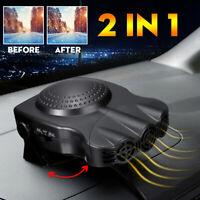 12V 150W 2 In 1 Portable Car Hot Cool Fan Heater Windscreen Demister