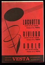 LAGHETTO - RIVIERA - ADELE # L. VESTA # SPARTITO - Fisarmonica, Clarino in SIb