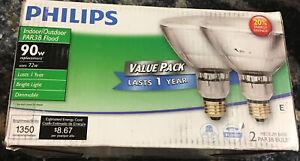 Philips 429373 EcoVantage 90W Halogen PAR38 Indoor/Outdoor Dimmable Flood Light