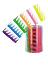 Detangling Wide Tooth Comb (Purple, Blue, Green, Orange, Pink, & Yellow) 1-Comb