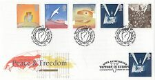 (87115) CLEARANCE GB FDC WWII Peace & Freedom Victory in Europe Whitehall 1985