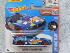 Hot Wheels 2016 #003/250 CUSTOM 2012 FORD MUSTANG blue HW Race Team CASE Q