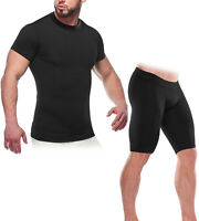 Men's Compression Top & Shorts Set Base Layer Gym Running Workout Athletic Wear