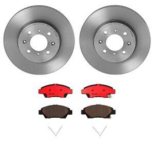 Brembo Front Brake Kit Ceramic Pads & Coated Disc Rotors for Honda Fit 2009-2014