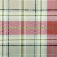 Voyage Decoration Berridale Check Tartan Jacquard Curtain Fabric - Red
