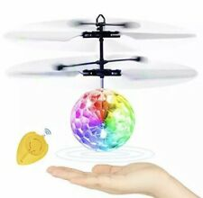 Betheaces Flying Ball Infrared Induction Colorful LED Disco RC Helicopter Toy