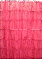 Chic Ruffle PINK Shower Curtain Semi Sheer NEW Free Shipping
