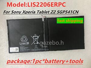 New Battery LIS2206ERPC 6000mAh For Sony Xperia Tablet Z2 SGP541CN Akku +tools