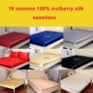 1pc 19 Momme 100% Mulberry Silk Seamless Extra Deep Fitted Sheet / Bottom Sheet