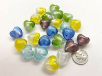Heart Beads Glass Mix Color Lampwork Glossy 18mm Beads for Bracelet Making 10 pc