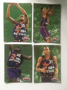 Fleer NBA 225 226 227 229  Shaqulle O'Neal Pippen All Star 1995 Trading Cards