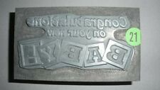 """Kwikprint """"Congratulations in your new Baby!"""" Hot Foil Stamping Cast Die"""