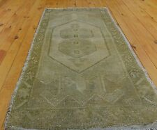 "Beautiful Vintage 1950-1960s Wool Pile 1'7""×3'7"" Natural Dyes Ushak  Rug"