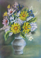 Mid 20th Century Pastel - Vase of Flowers