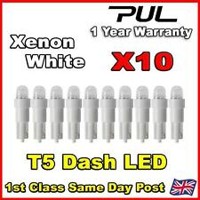 10 X Car T5 73 74 286 Dashboard LED White Light Bulb Lamp 12V Replacement