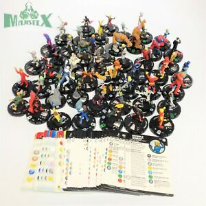 Heroclix lot of 51 Marvel figures with cards from various sets! Fantastic Four