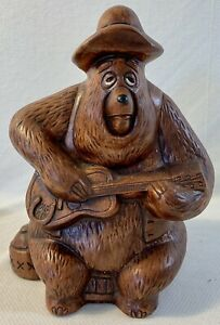 VINTAGE DISNEY BIG AL COUNTRY BEAR COIN PIGGY BANK WALT DISNEY PRODUCTIONS CF6