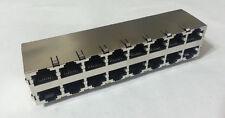 Ethernet Jack Connector RJ45 8P 16Port Shielded CAT5 Tyco AMP 5569264-1 10pcs