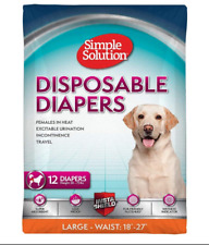 Simple Solution Disposable Dog Diapers for Female Dogs 12 count L/XL