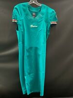 MIAMI DOLPHINS TEAM ISSUED BLANK ON FIELD AQUA JERSEY SZ 38 +6 2012 W/CUT BOTTOM