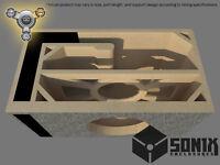 STAGE 3 - PORTED SUBWOOFER MDF ENCLOSURE FOR SUNDOWN ZV515 SUB BOX