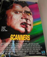 ROLLED 1995 SCANNERS The SHOWDOWN 1 SHEET MOVIE POSTER CRONENBERG SCI FI HORROR