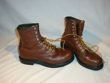 "Vintage Red Wing 2233 Safety Steel Toe supersole 8"" Work Boots Men's 9.5 B USA"