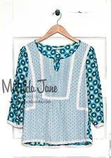 Womens MATILDA JANE Hello Lovely Kaleidoscope Peasant Top size L Large EUC