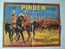 Affiche collection cirque Pinder Quadrille des Lanciers du Bengale