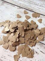 Kraft Paper Heart Confetti Rustic Vintage Shabby Chic Wedding Decorations 1000