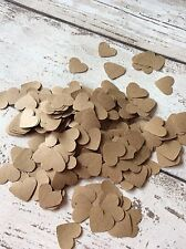 Kraft Paper Heart Confetti Rustic Vintage Shabby Chic Wedding Decorations 1000