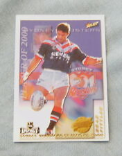 2001  RUGBY LEAGUE PLAYER OF 2000 CLUB CARD CP14  BRAD FITTLER, ROOSTERS