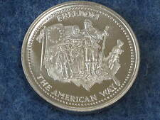 1985 Johnson Matthey Freedom The American Way Silver Art Round B8919