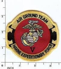 USMC 5th Marine Expeditionary Force PATCH Marines !  V MEF Air Ground Team RARE!