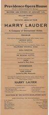 *GREAT SCOTS SINGER COMEDIAN SIR HARRY LAUDER 1912 PROGRAM*