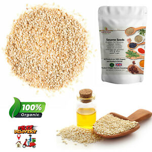 100% Pure Natural Sesame Seeds White Whole Till Hulled Top Quality Spices P&P UK