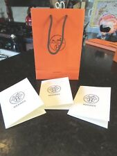 "NICE Orange Logo Hermes gift bag Receipt 3 Holders Empty 6"" x 8.5"" x 2.75"""