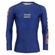 Tatami Tropic Navy Long Sleeve Rash Guard BJJ No-Gi Jiu Jitsu Grappling