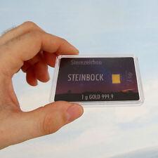 1g GOLD 999,9 + ZERTIFIKAT ► 1 GRAMM FEINGOLDBARREN ► Steinbock Sternzeichen