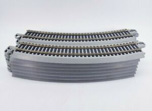 14 HO Bachmann EZ Track Radius Curved Track Nickel Silver Gray MIXED LOT