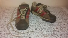 ADIDAS Men's Size 8 Brown Suede Rubber Tip Lace Up Walking Hiking Shoes