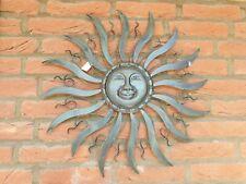 Wanddeko Sonne 55 cm Ornament Skulptur Garten Eisen Wandbild Bild Terrasse Deko
