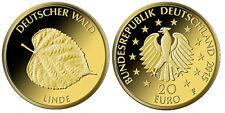 20 Euro Goldmünze 2015 Deutscher Wald Linde Gold Prägestätte Berlin A